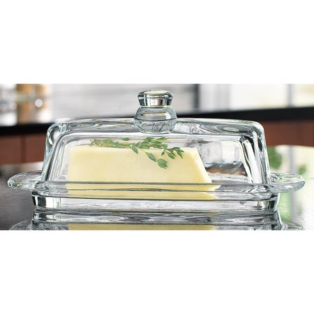 8965 Tablesetter Butter Dish with Knob, ADD SOME LUXURY TO YOUR TABLE: Decorate your table with this gorgeous crystal-clear butter dish with knob By Home Essentials & Beyond