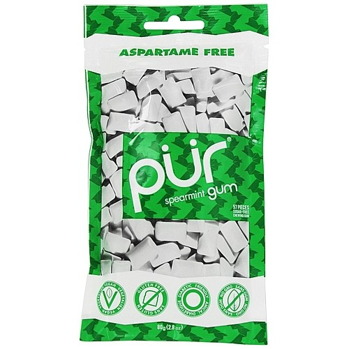 Action Candy Pur Chewing Gum, 57 ea
