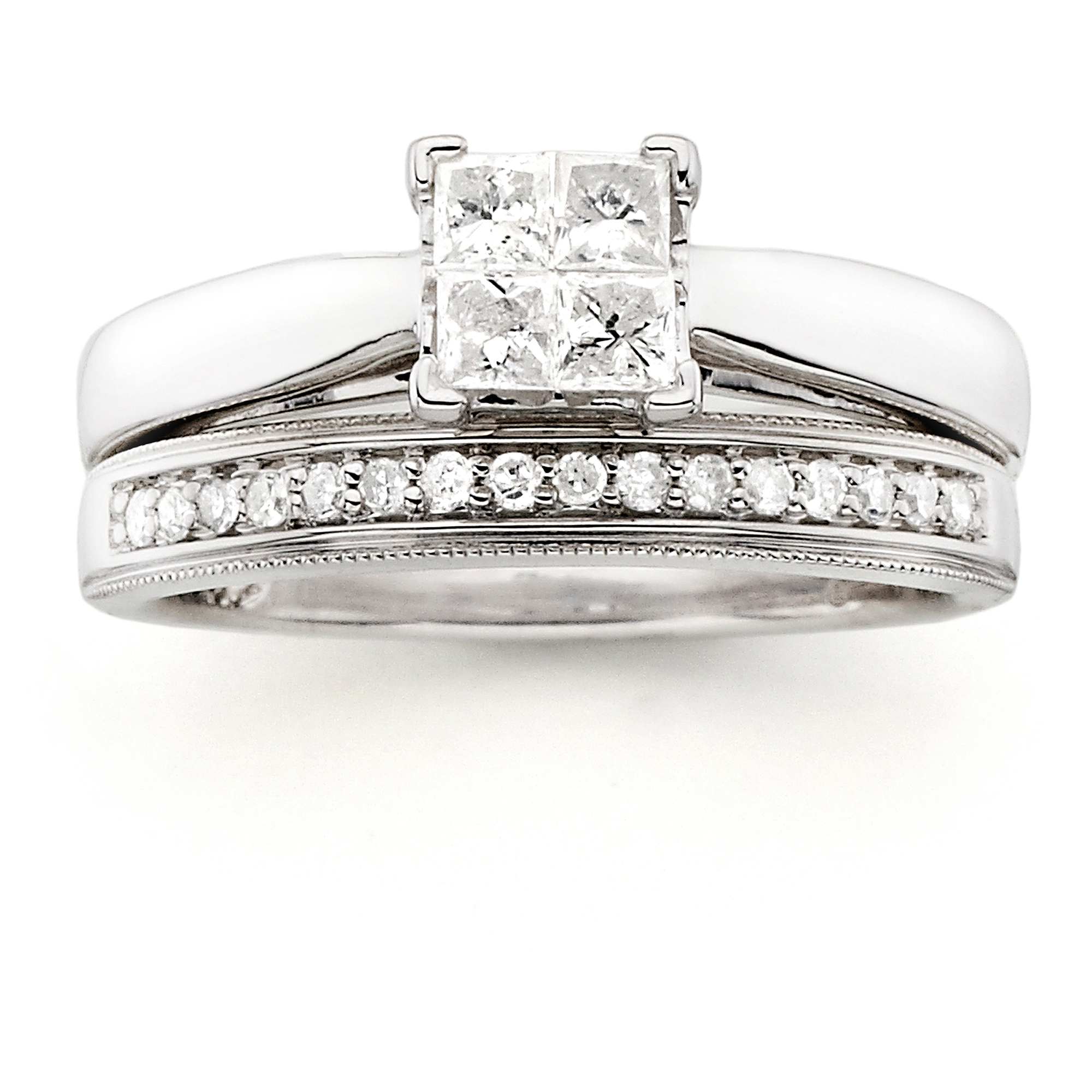 Always & Forever Platinaire 1/2 Carat T.W. Diamond Quad Bridal Set