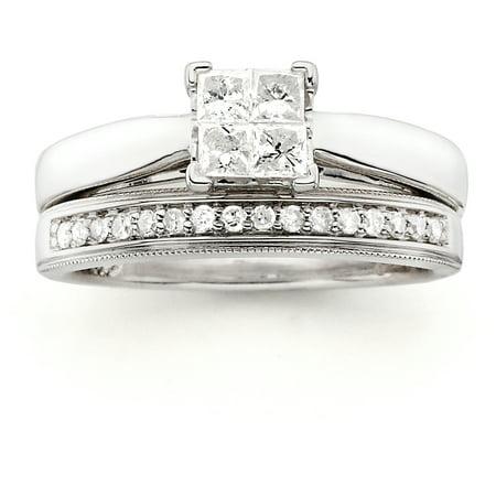 Image of Always & Forever Platinaire 1/2 Carat T.W. Diamond Quad Bridal Set