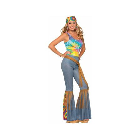 Womens Hippie Pants with Belt Halloween Costume - Referee Costumes For Women