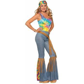 Womens Hippie Pants with Belt Halloween Costume](Jungle Woman Halloween)