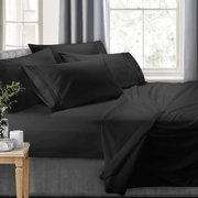 Clara Clark RV/Short Queen 6-Piece Bed Set for Campers - Deep Pocket Fitted Sheet Luxury Soft Microfiber, Hypoallergenic, Black
