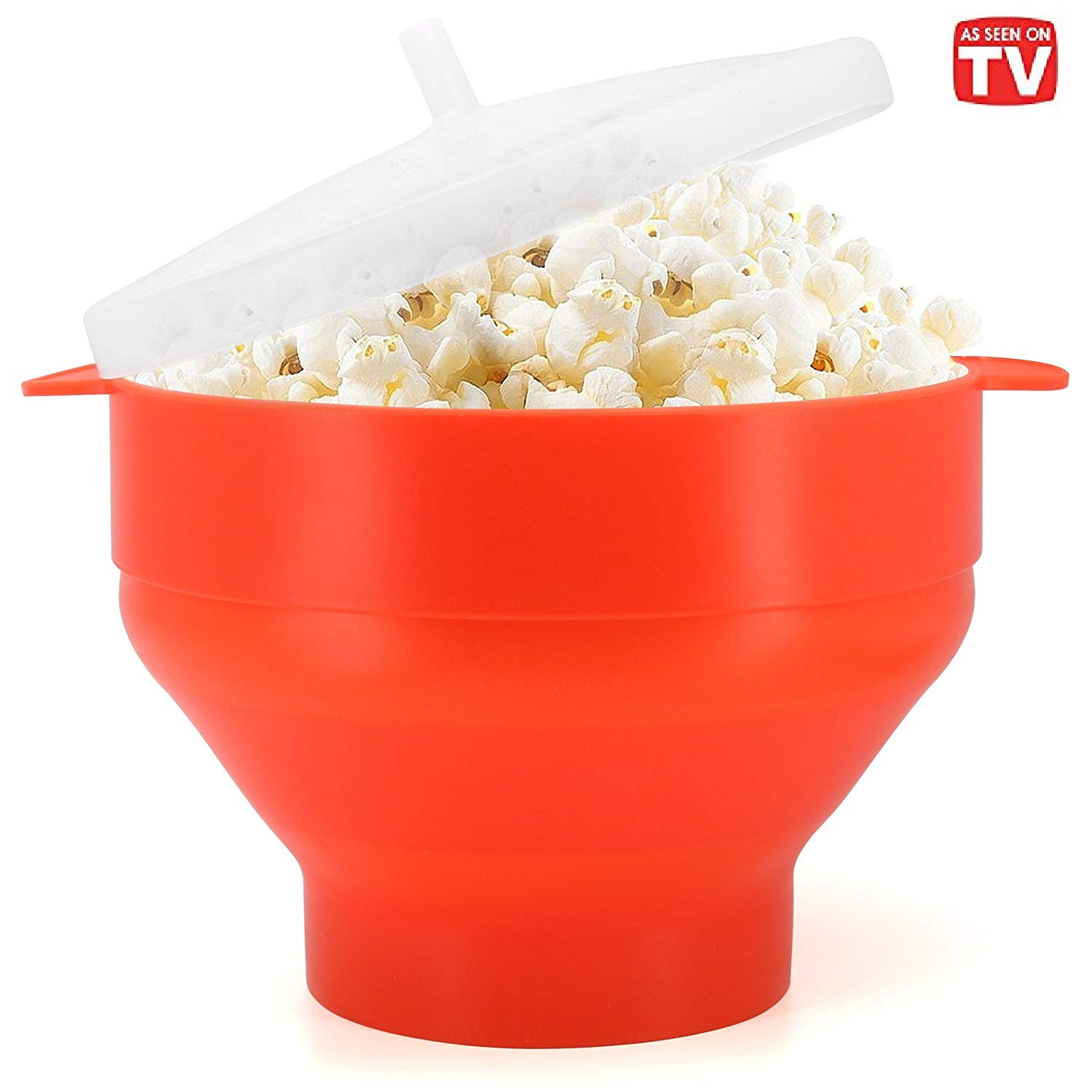 Microwave Popcorn Popper, BPA Free Silicone Hot Air Microwavable Popcorn Maker Bowl