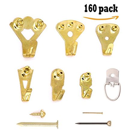 Picture Hangers 160 Pcs Photo Frame Hooks By Toptoper Heavy Duty