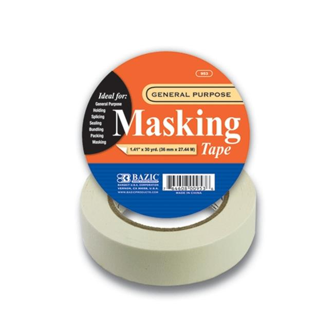 Bazic 954-24 1. 41 inch x 2160 inch General Purpose Masking Tape- Pack of 24