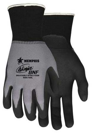 Coated Gloves,Palm and Fingers,2XL,PR N96790XXL