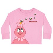 Personalized Yo Gabba Gabba! Foofa Friendly Bees Pink Toddler Girls' Long-Sleeve Tee