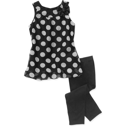George Baby Girls 2-Piece Bubble Dot Tunic and Legging Set