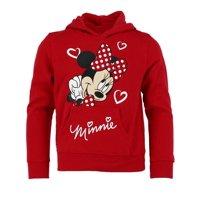 Jerry Leigh Disney Girl's Minnie Mouse Hearts Hoodie Sweatshirt