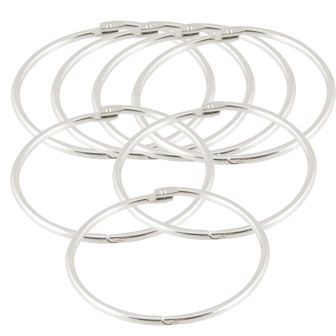 "7 Pcs Metal 3.3"" Loose Leaf Rings Binder Keyrings for Scrapbooking Book"