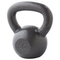 Weider Cast Iron Kettlebell with Durable Hammertone Finish, 10-100 lbs, Single