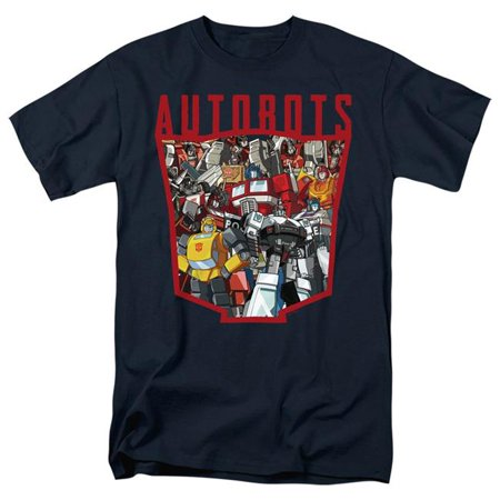 Trevco Sportswear HBRO160-AT-7 Transformers & Autobot Collage - Short Sleeve Adult 18-1 T-Shirt, Navy - 4X - image 1 of 1