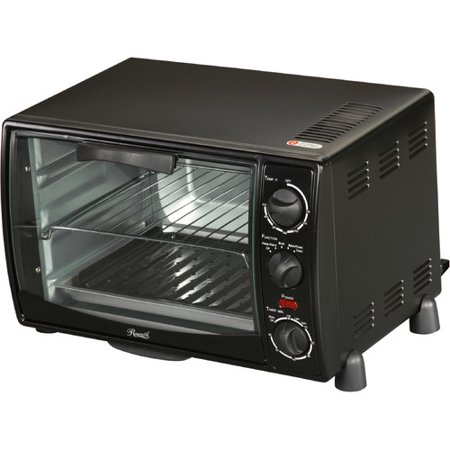 Rosewill RHTO-13001 6-Slice Toaster Oven Broiler with Drip Pan, Black