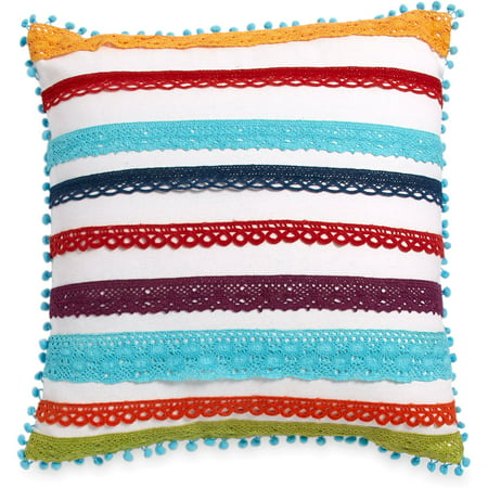 The Pioneer Woman Multi Color Lace 16x16 Decorative (Lace Heart Pillow)