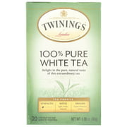 Twinings of London 100% Pure White Tea Bags, 20 count, 1.06 oz