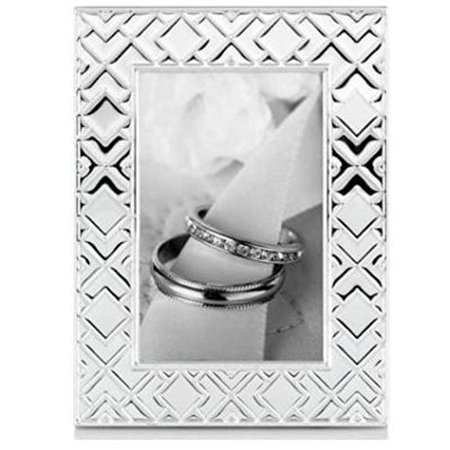 Collection Origami Picture Frame 4x6 Silver By Martha Stewart