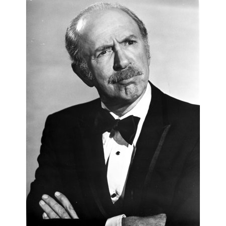 Jack Albertson Posed In Black Suit With Arms Cross Photo Print