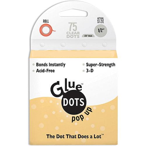 "Glue Dots 1/2"" Pop Up Dot Roll, 75 Clear"