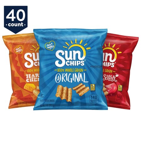 Sunchips Multigrain Chips Variety Snack Pack 1 Oz Bags 40 Count