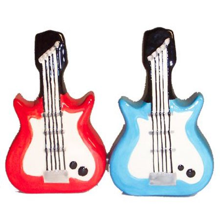 Dueling Electric Guitars Salt and Pepper Shaker Set by Pacific Trading ()