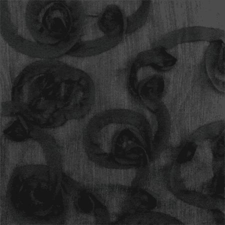 Black Ribbon Swirl Sparkle Crinkled Chiffon, Fabric By the Yard (Black Crinkle Paper)