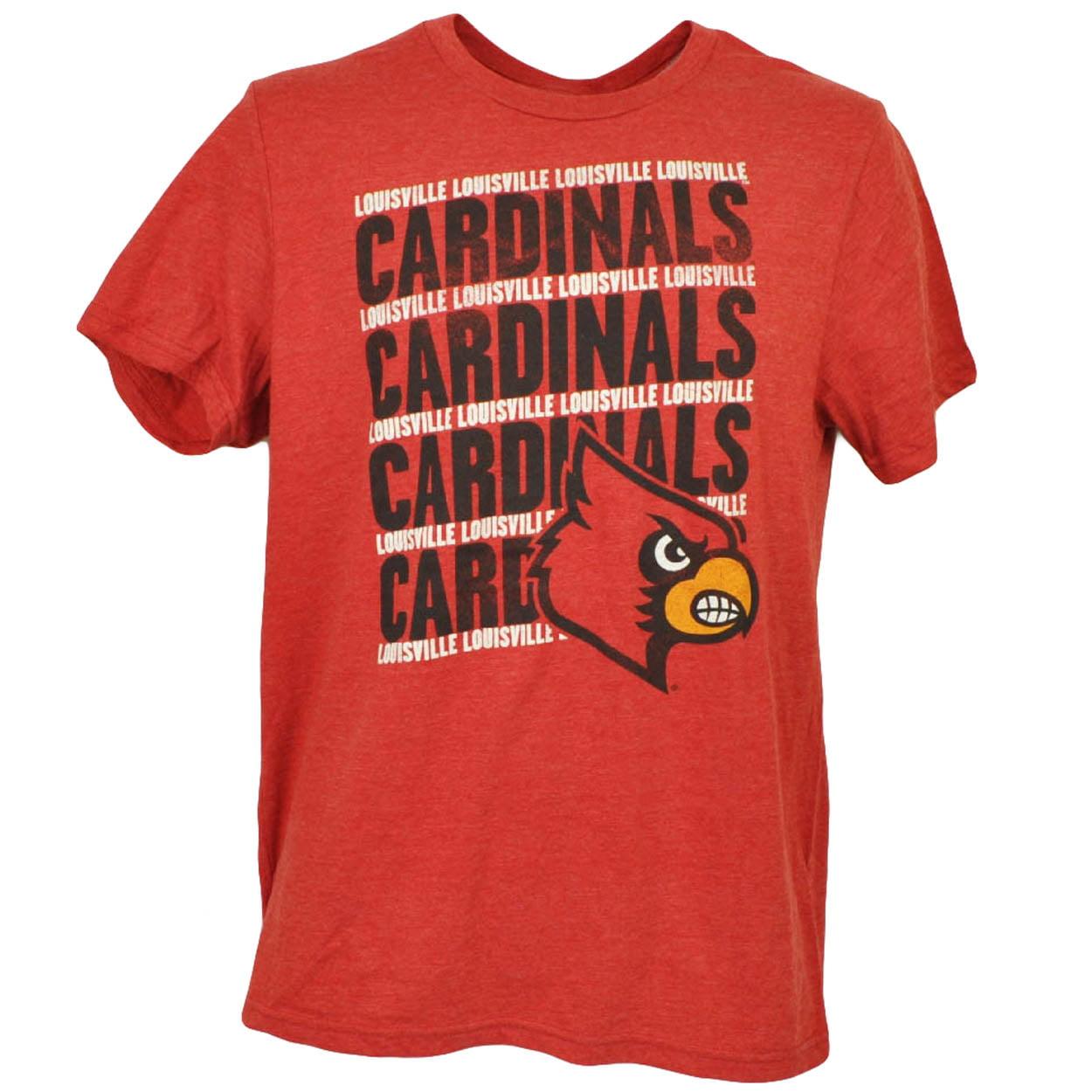 NCAA Louisville Cardinals Tshirt Tee Short Sleeve Crew Neck Mens Red Sports XL