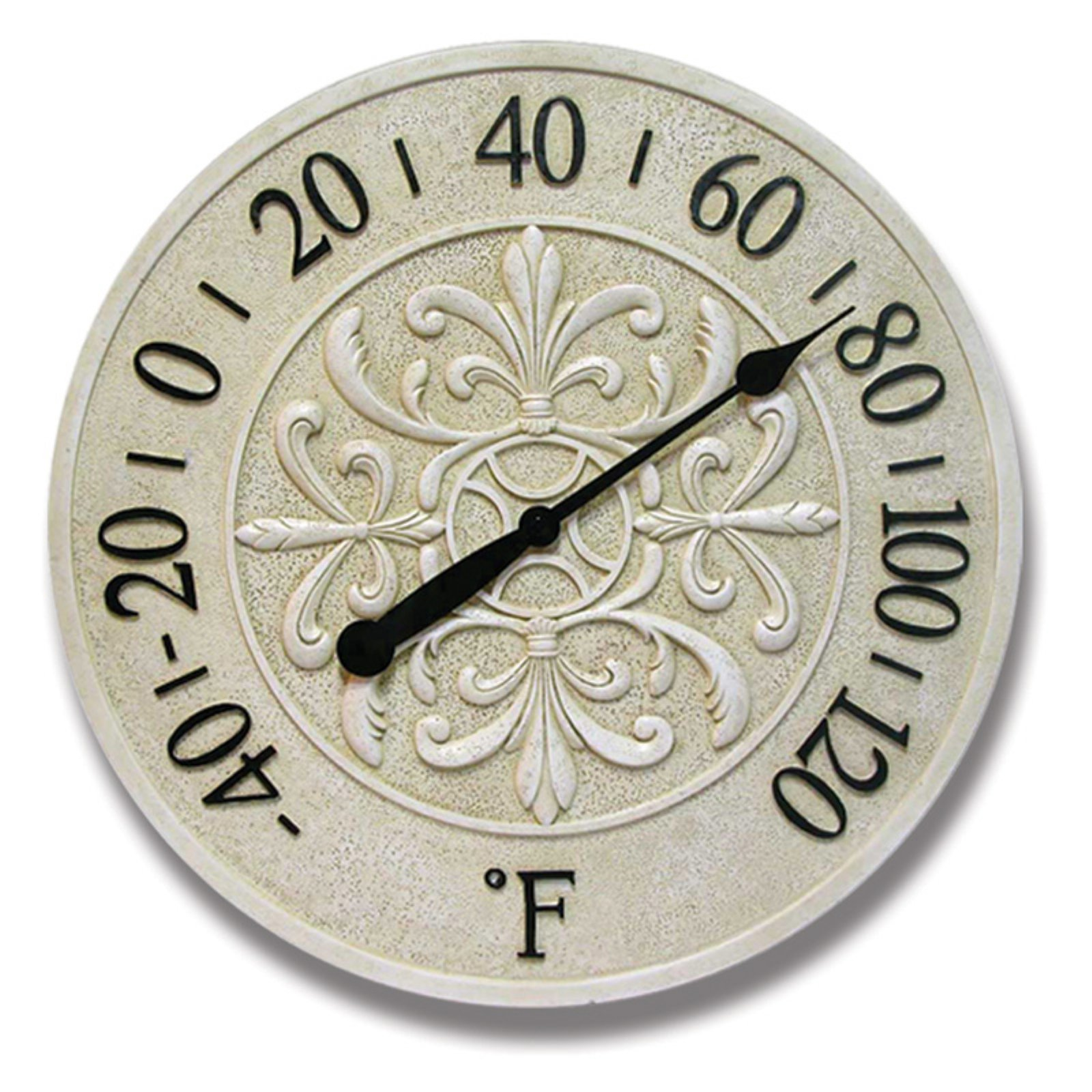 Infinity Instruments Blanc Fleur Wall Thermometer