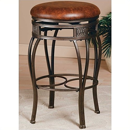 Hillsdale Montello 26 Inch Backless Swivel Counter Stool Old Steel