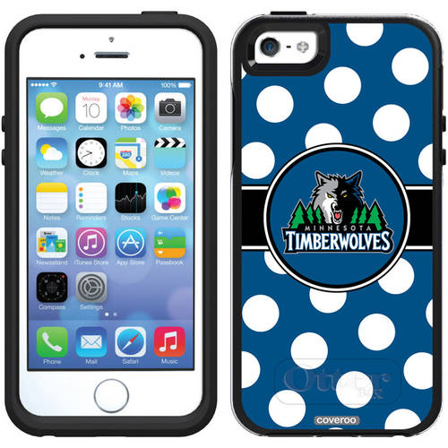 Minnesota Timberwolves Polka Dots Design on OtterBox Symmetry Series Case for Apple iPhone 5/5s