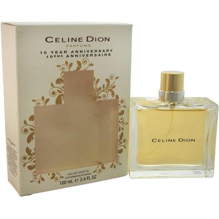 Celine Dion 10 Year Anniversary for Women Eau de Toilette Spray, 3.4 oz