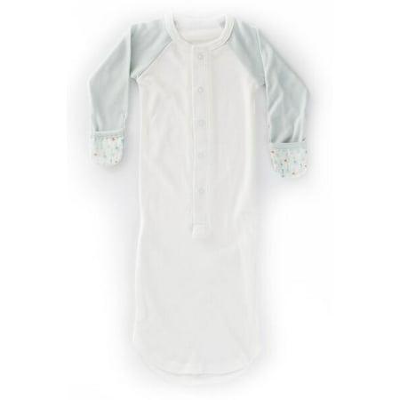 Castle Pajamas (Goumikids Baby Pajamas, Slip-On Sleep Sack (Forest Friends Aqua, Newborn 5-7lbs) )