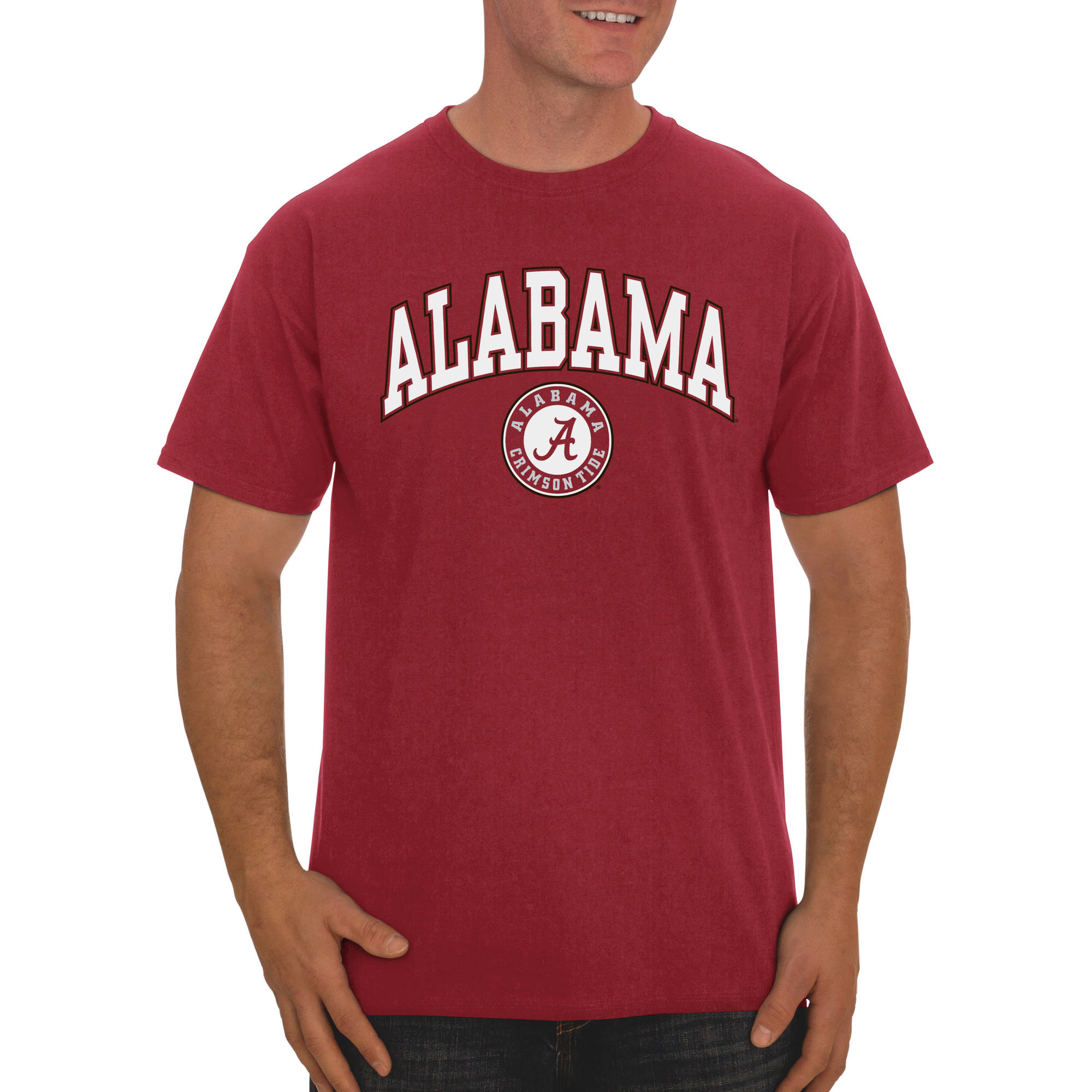 Russell NCAA Alabama Crimson Tide, Big Men's Classic Cotton T-Shirt
