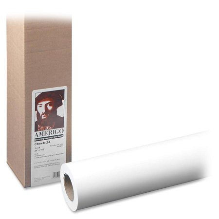 PM, PMC44124, 20lb Wide Format Inkjet Bond Paper Roll, 1 / Roll, White