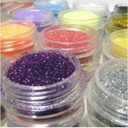 12 Glitter Powder Dust for Nail Art by, 12 Glitter Powder Dust By viptao