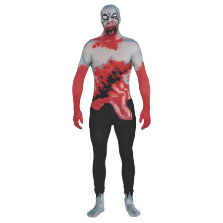 Adult Zombie 2nd Skin Suit Costume - Zombie Halloween Skin