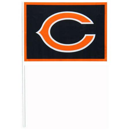 best website dfdaf 7e8e4 Chicago Bears 12-Pack Plastic Flags - Walmart.com