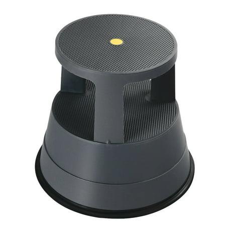 Costway Kick Stool Rolling Step Stool w/Non-Slip Rubber Platform 330LBS Capacity Gray