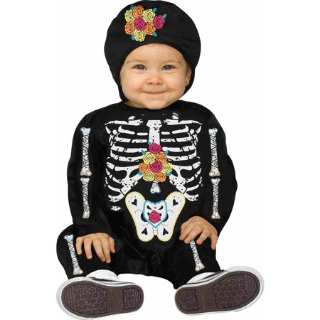 Day of the Dead Baby Bones Skeleton Infant Costume](Valentines Day Costume Ideas)