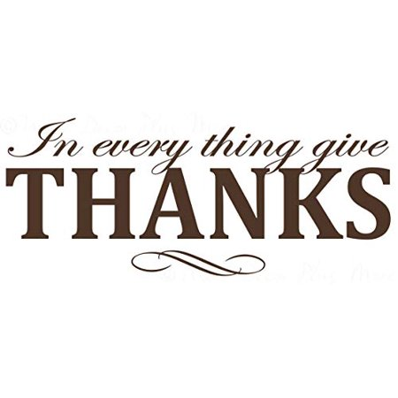 in Everything Give Thanks Vinyl Lettering Fall Home Decor Quote 36x14