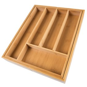 Kitchen drawer organizer expandable utensil organizer cutlery bamboo expandable utensil drawer organizer flatware utensil workwithnaturefo