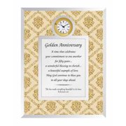 """Clock-Framed Table-Glimmers Of Time/50th Golden Anniversary (6.75"""" X 8.75"""")"""