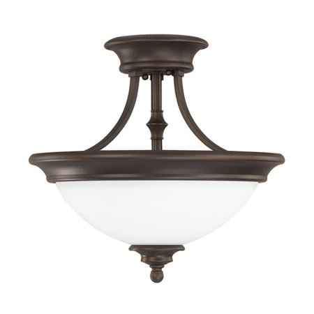 - Capital Lighting  Belmont Collection 2-light Burnished Bronze Semi Flush