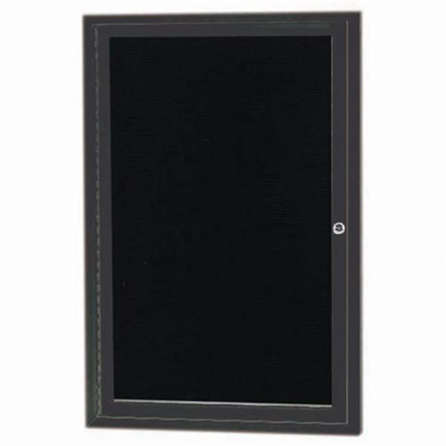 Aarco Products ADC2418BA 1-Door Directory Cabinet - Bronzed Anodized