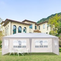 10' x 10' Canopy Tent for Garden, Portable Folding Outside Adjustable Height Outdoor Gazebo with Carrying Bag, for Garden Beach Pool Wedding Commercial Party BBQ, Khaki, S11230
