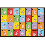 La Rug FT-129 1929 19 in. x 29 in. Fun Time Sign Language Accent Rug - Multi Colored