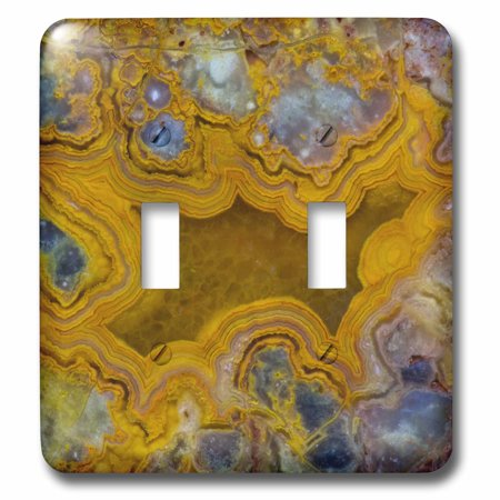 3dRose Mexican Yellow Crazy Lace Agate - Double Toggle Switch