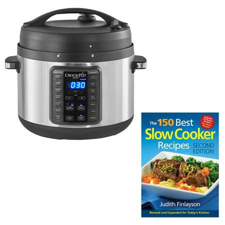 Crock-Pot Multi Function 10 Qt Express Slow Cooker Bundle w/ Cookbook