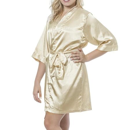 Personalized Luxury Satin Robe