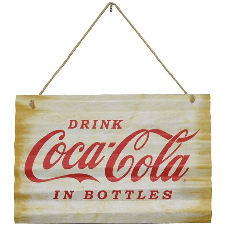 Drink Coca Cola in Bottles Tin Wall Sign 15.25 Inches Officially Licensed Plaque](Coca Cola Halloween Advertising)
